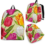 Colorful Tulip Pattern Backpack