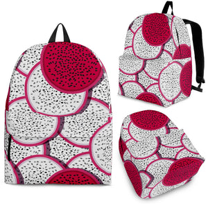 Sliced Dragon Fruit Pattern Backpack