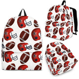 American Football Ball Red Helmet Pattern Backpack