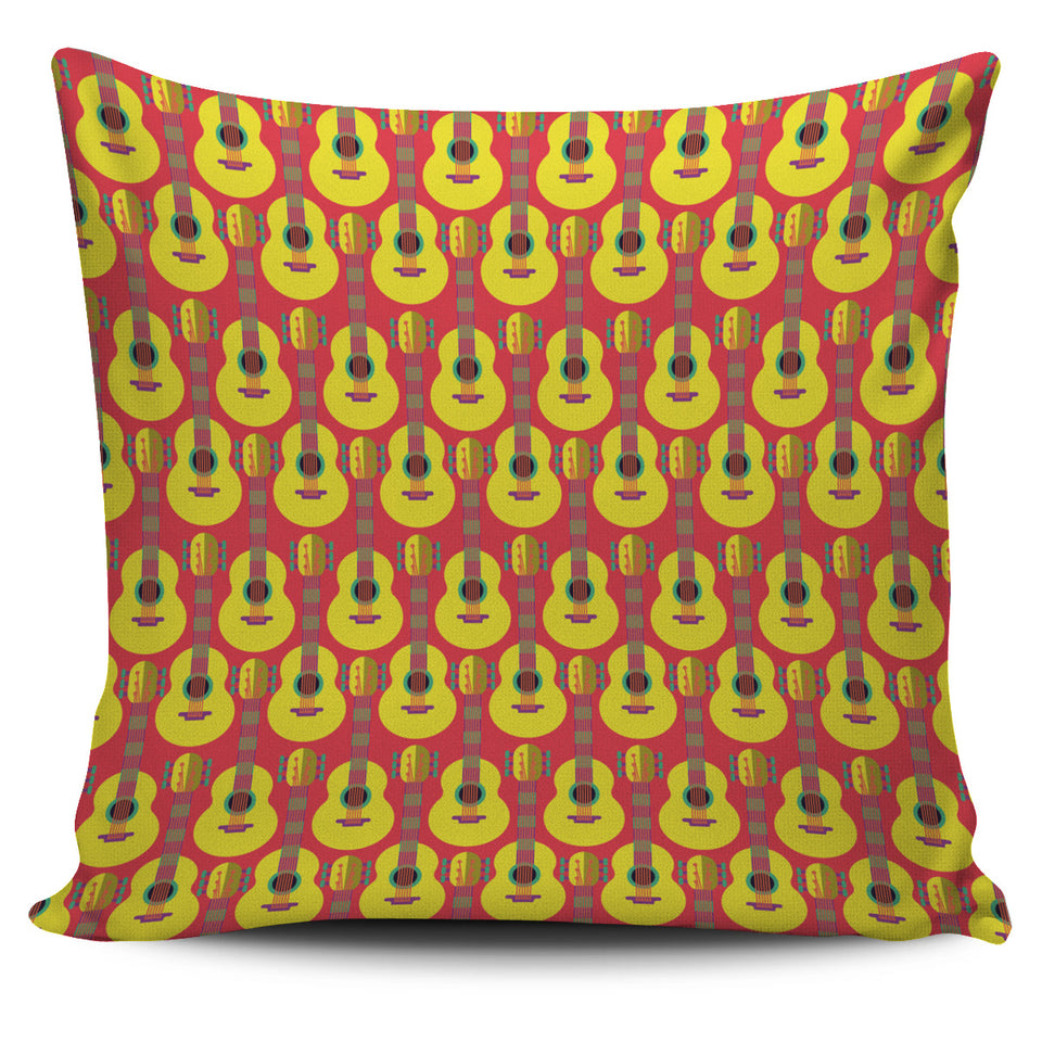Classic Guitar Theme Pattern Pillow Cover