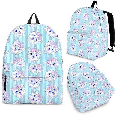 Yorkshire Terrier Pattern Print Design 01 Backpack