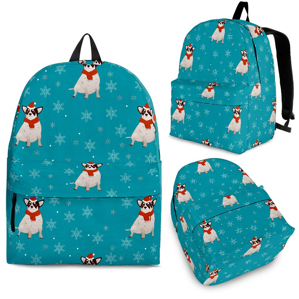 Fat Chihuahua Christmas Pattern Backpack