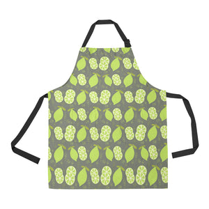 Lime Pattern Theme Adjustable Apron