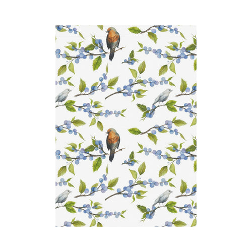 Blueberry Bird Pattern House Flag Garden Flag