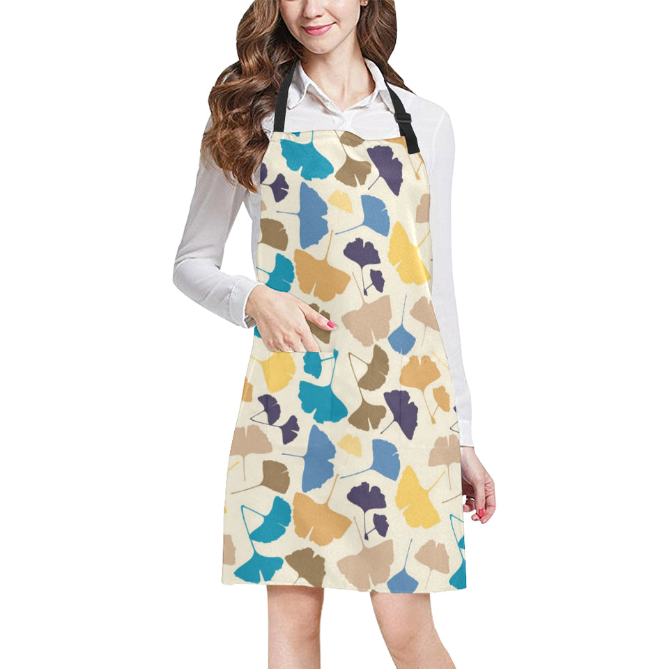 Colorful Ginkgo Leaves Pattern Adjustable Apron