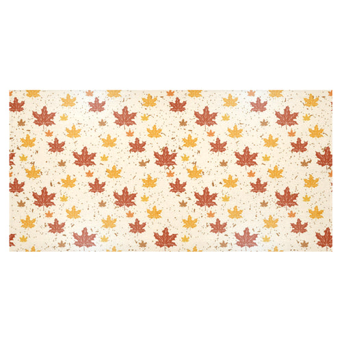 Red and Orange Maple Leaves Pattern Tablecloth