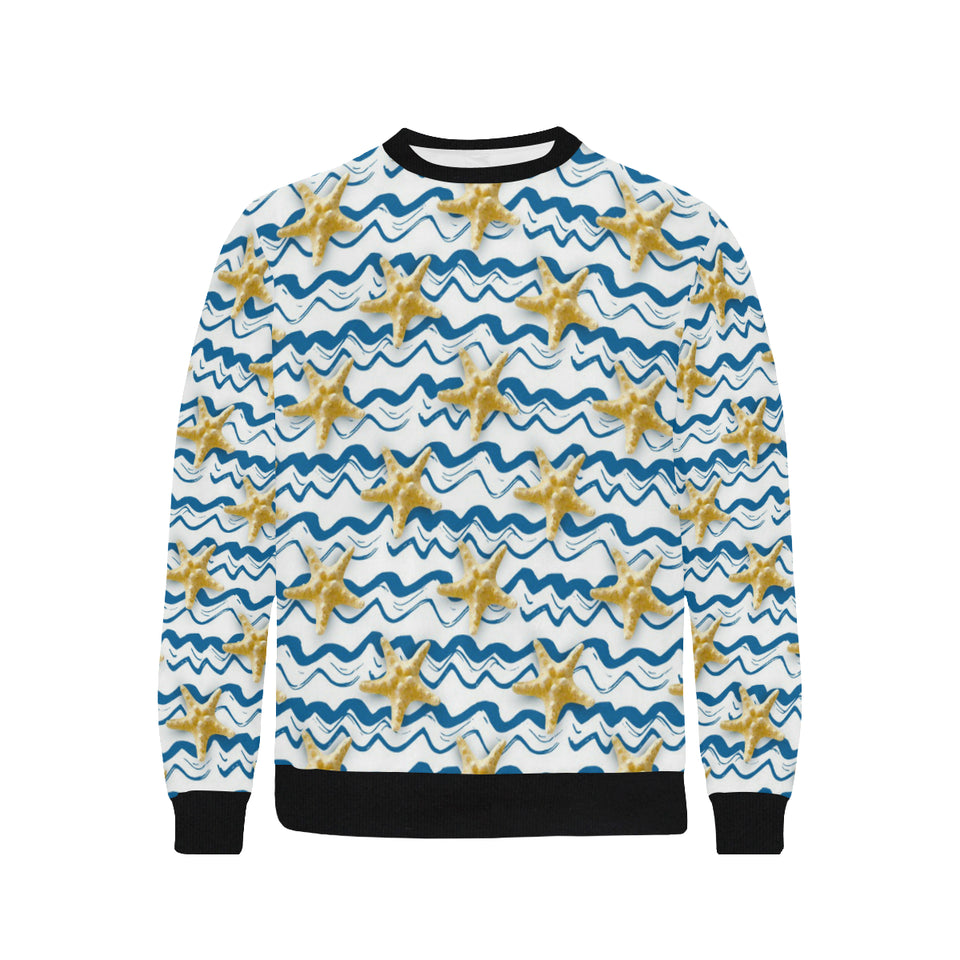 Starfish Pattern Men's Crew Neck Sweatshirt