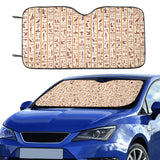 Egypt Hieroglyphics Pattern Print Design 05 Car Sun Shade