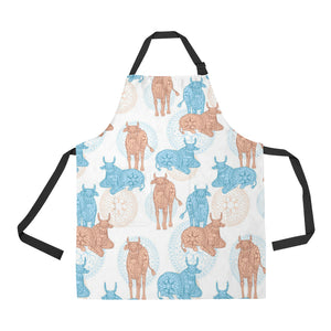Cow Tribal Pattern Adjustable Apron