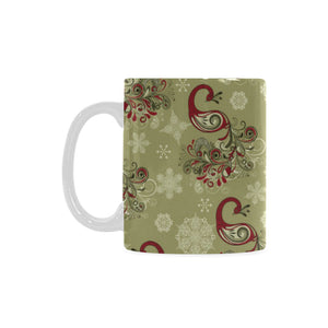 Peacock Tribal Pattern Classical White Mug (FulFilled In US)