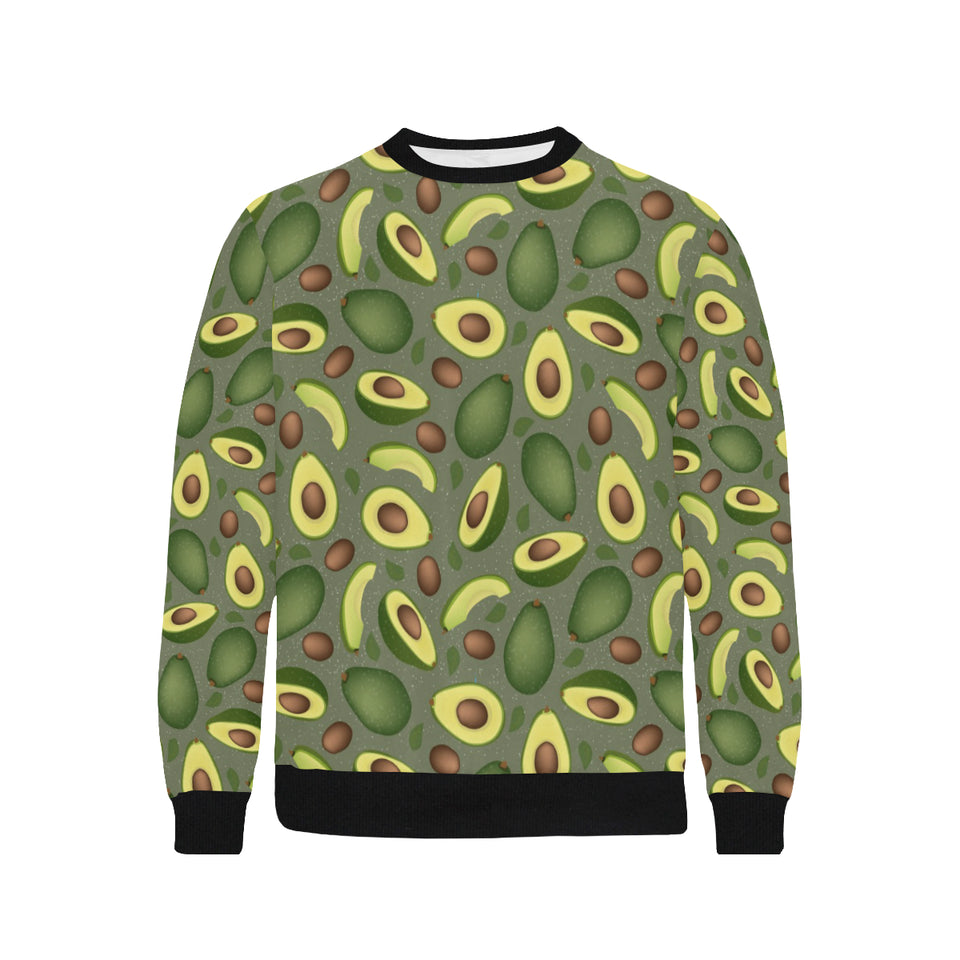 Avocado Pattern Background Men's Crew Neck Sweatshirt