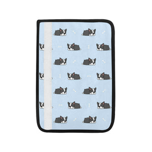 Sleep Boston Terrier Bone Pattern Car Seat Belt Cover
