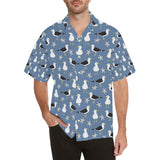 Seagull Pattern Print Design 01 Men's All Over Print Hawaiian Shirt (Model T58)