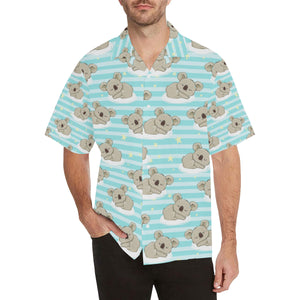 Sleep Koala Pattern Men's All Over Print Hawaiian Shirt