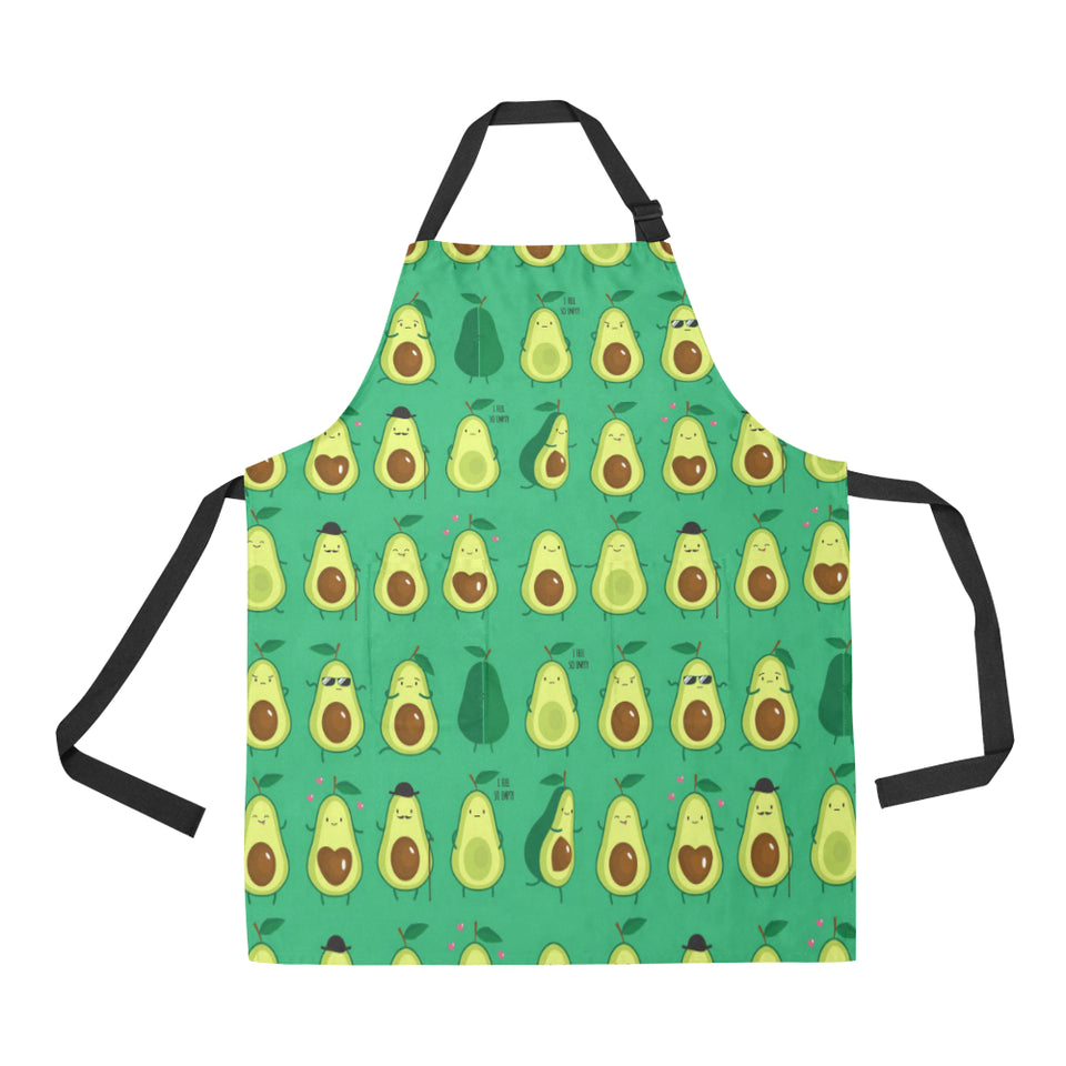 Cute Avocado Pattern Adjustable Apron