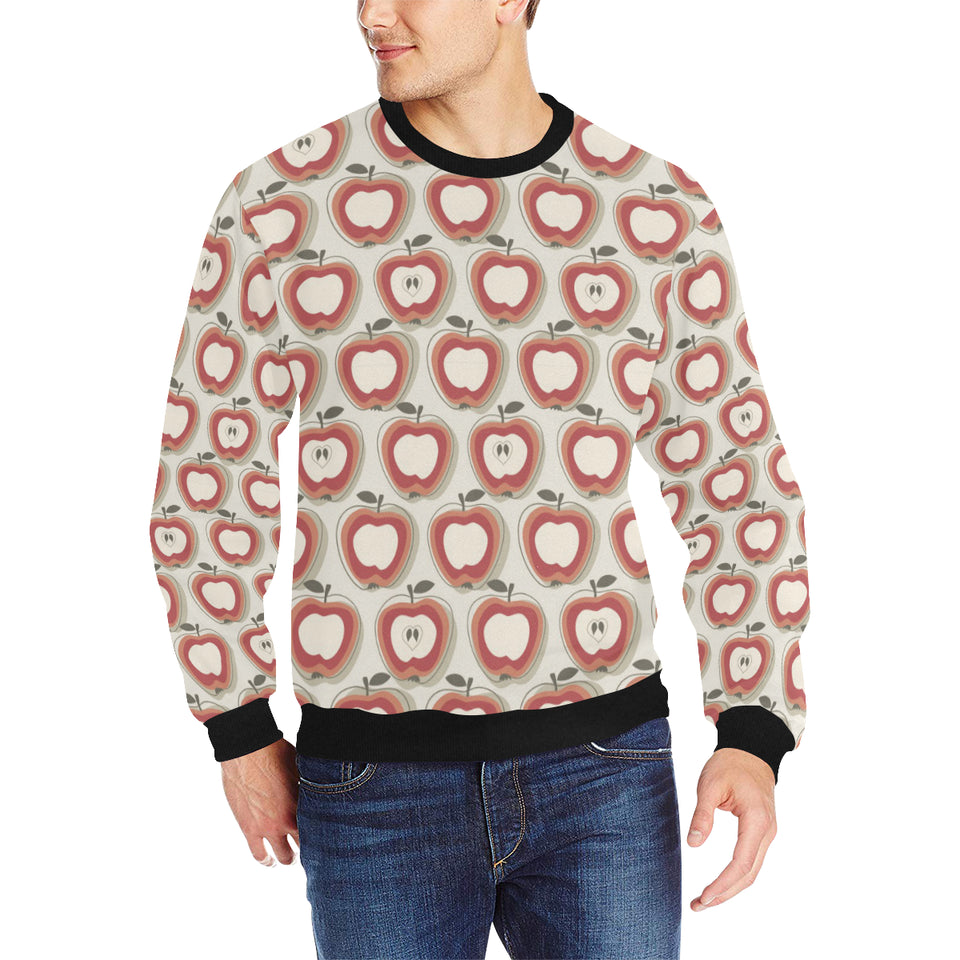 Red Apple Pattern Men's Crew Neck Sweatshirt