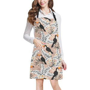 Toucan Theme Pattern Adjustable Apron