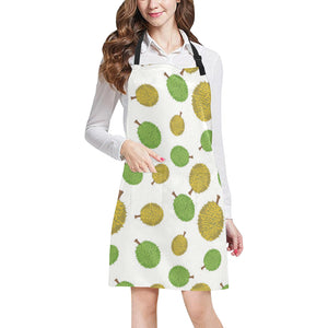 Durian Background Pattern Adjustable Apron