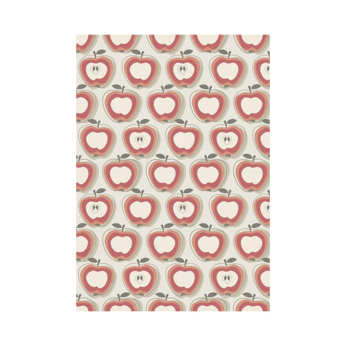 Red Apple Pattern House Flag Garden Flag