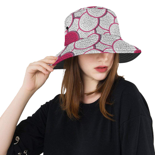 Sliced Dragon Fruit Pattern Unisex Bucket Hat