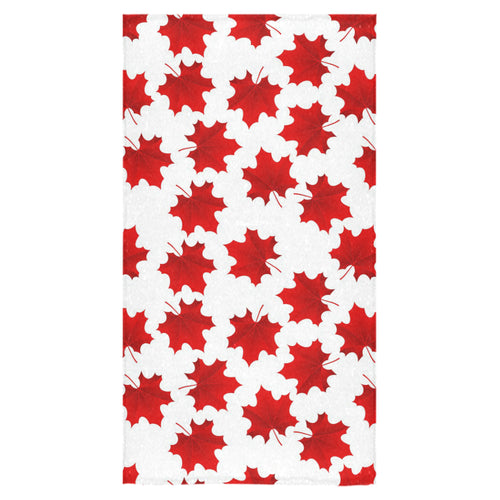 Red Maple Leaves Pattern Bath Towel