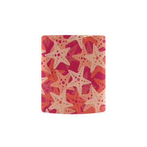 Starfish Red Theme Pattern Classical White Mug (FulFilled In US)