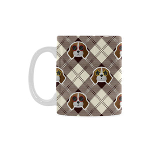 Beagle with Sunglass Pattern Classical White Mug (FulFilled In US)