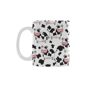 Cute Cow Pattern Classical White Mug (FulFilled In US)