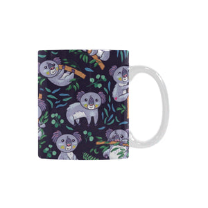 Koala Pattern Classical White Mug (FulFilled In US)