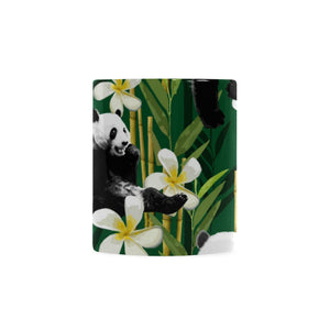 Panda Bamboo Flower Pattern Classical White Mug (FulFilled In US)