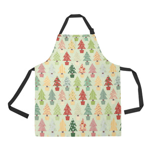 Christmas Tree Pattern Backgroind Adjustable Apron