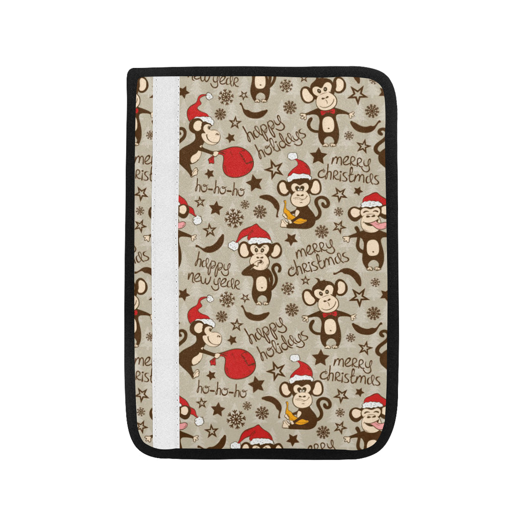 Monkey Christmas Pattern Car Seat Belt Cover