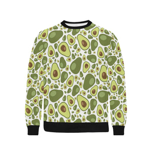 Avocado Pattern Men's Crew Neck Sweatshirt