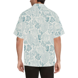 Coral Reef Pattern Print Design 02 Men's All Over Print Hawaiian Shirt (Model T58)