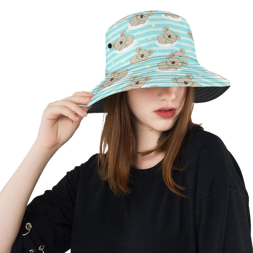 Sleep Koala Pattern Unisex Bucket Hat