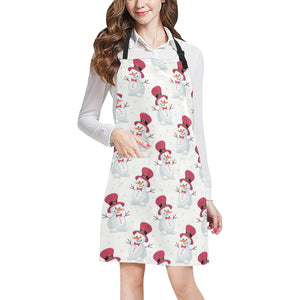 Cute Snowman Pattern Adjustable Apron