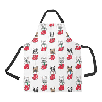 French Bulldog in Sock Pattern Adjustable Apron