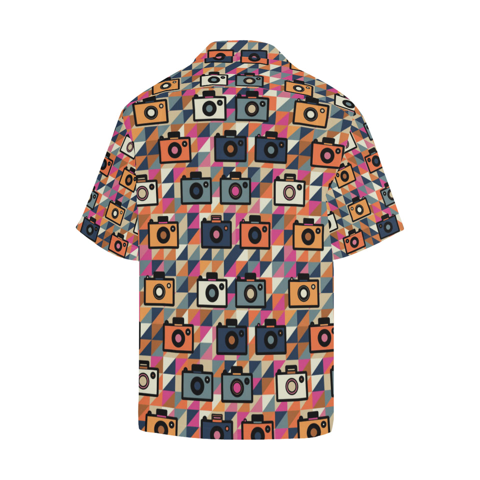 Camera Pattern Print Design 01 Men's All Over Print Hawaiian Shirt (Model T58)