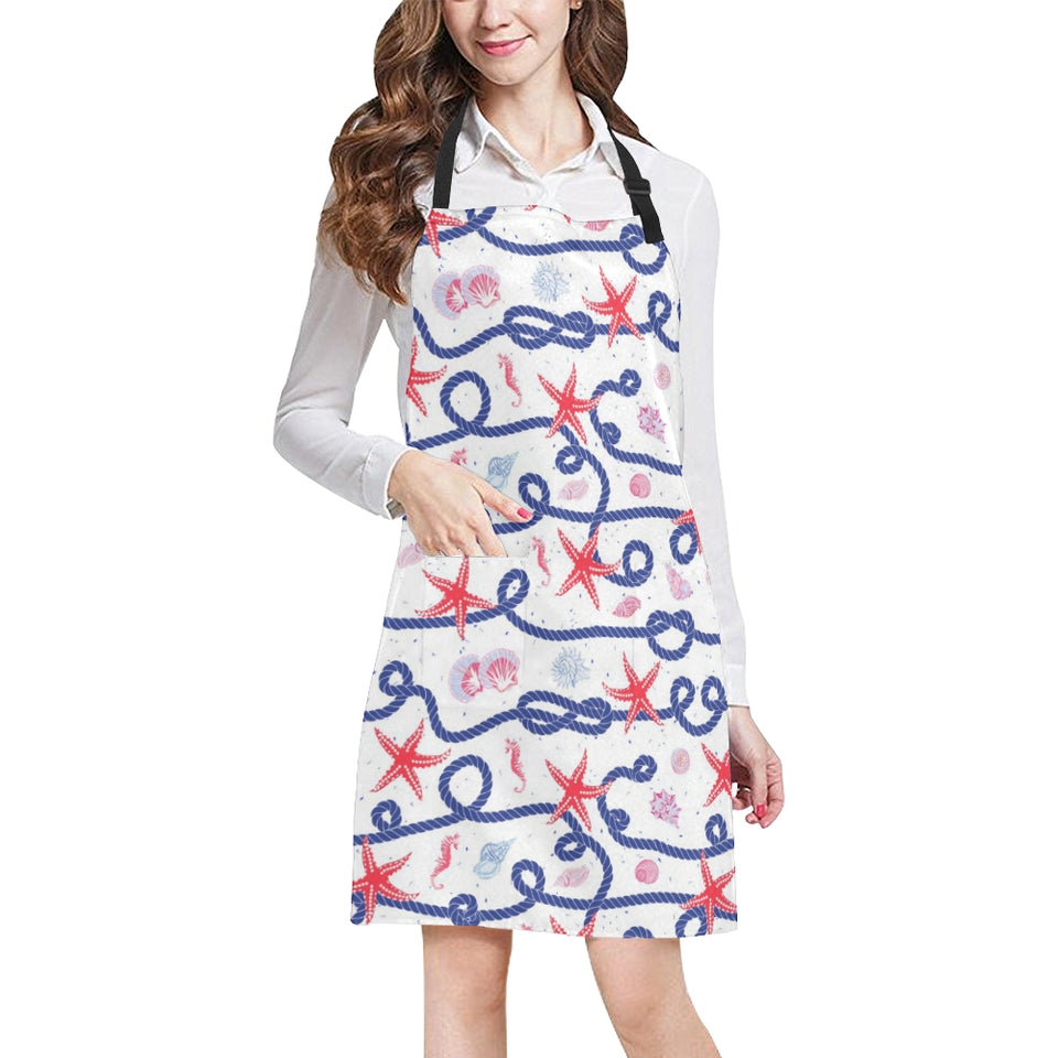 Starfish Shell Rope Pattern Adjustable Apron