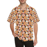 Squirrel Pattern Print Design 04 Men's All Over Print Hawaiian Shirt (Model T58)