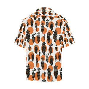 Carrot Pattern Print Design 02 Men's All Over Print Hawaiian Shirt (Model T58)