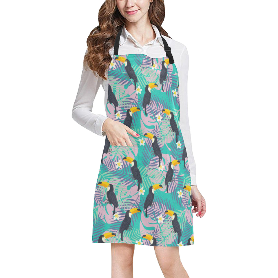 Toucan Pattern Background Adjustable Apron