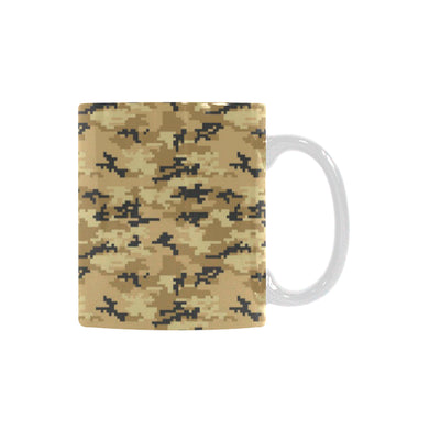 Sand Camo Camouflage Pattern Classical White Mug (FulFilled In US)