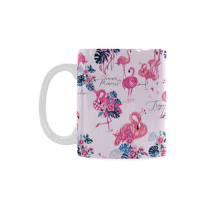Flamingo Pink Pattern Classical White Mug (FulFilled In US)