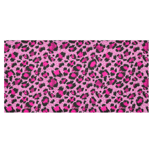 Pink Leopard Skin texture Pattern Tablecloth