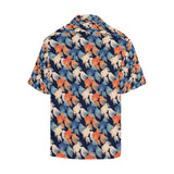 Goldfish Pattern Print Design 04 Men's All Over Print Hawaiian Shirt (Model T58)