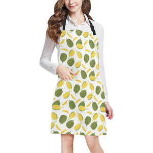 Durian Pattern Background Adjustable Apron