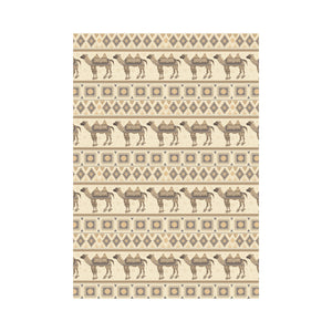 Traditional Camel Pattern Ethnic Motifs House Flag Garden Flag