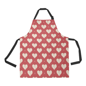 Heart Red Pattern Adjustable Apron