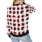 Ninja Pattern Women's Crew Neck Sweatshirt